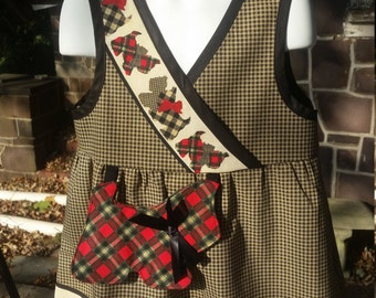 Daisy Kingdom Scotty Dog girls jumper, girls dress, holiday dress, christmas dress, boutique girls dress size 6