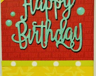 Happy Birthday Handmade Card A2