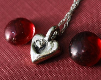Silver Heart Necklace Jewelry Sterling Silver