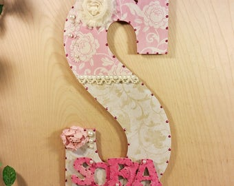 Baby Room Decor, Custom Letters, Custom Wood Nursery Letters, Nursery Room Decor, Baby Nursery Decor, Nursery Letter, Custom Wood Letters