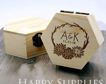 Custom Ring Box, Ring Pillow Alternative, Personalized Wood Box, Engraved Box, Personalized Ring Box, Custom Wedding Box, Bridesmaid Gift
