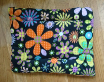 Spring Flowers Puffy Pet Bed