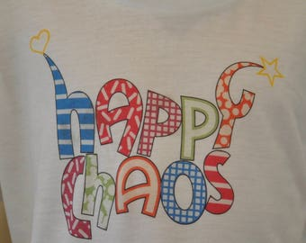 Kids Tri-blend Short-sleeve T-shirt - Happy Chaos - Full Color - MARKED DOWN!