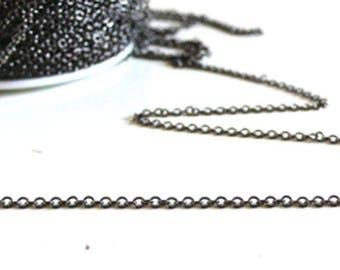 Thin chain brass chain 1 meter - black metalgun 1.5 mm