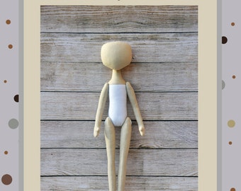 "PDF, Cloth Doll Pattern 15"" ,PDF Sewing Tutorial,Soft Doll Pattern"