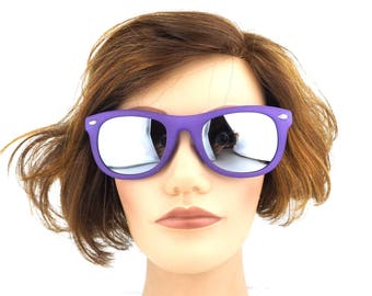 sunglasses. vintage. wayfarer. for women. for men. for her. for him. 90s. purple. grape. matte. sun glasses. retro. accessories. fashion