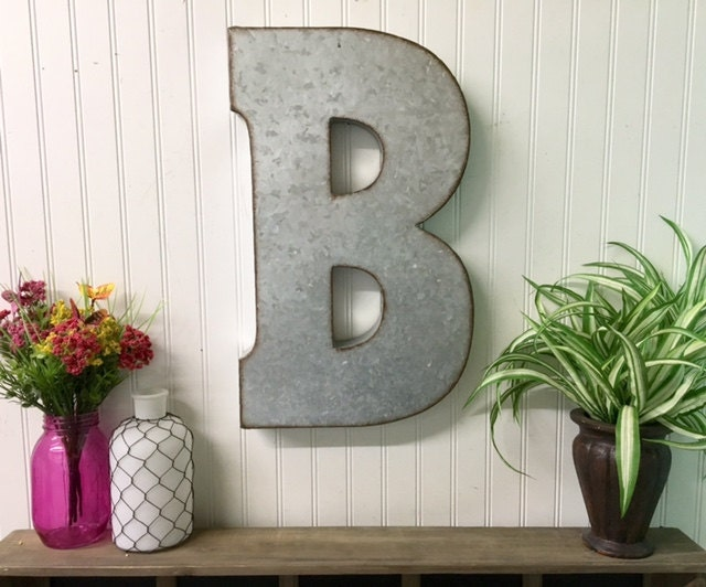 12 Inch Galvanized Letters Delectable Metal Letterslarge Lettersgalvanized Letterindustrial Inspiration Design