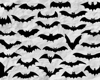 30 Bat Silhouettes | Bat SVG cut files | cliparts | wall print | halloween decoration | vectors | printable | party kit | instant download