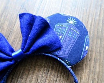 Doctor Who Tardis Blue Mickey Ears Galliday
