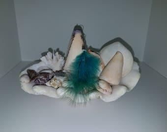Earrings Blue Fur
