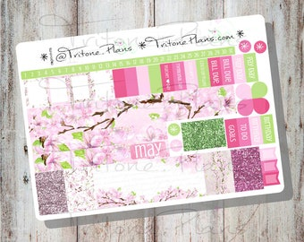 Blossom || May Monthly Sticker Kit for SewMuchCrafting Personal size inserts