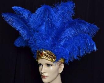 Carnival Headdress Floss Feathers