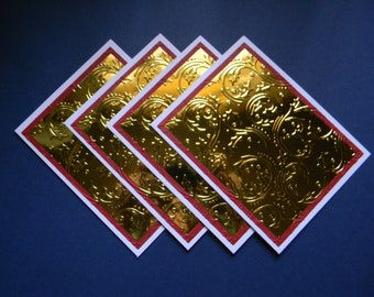 Set of A2 Embossed and Layered Card Bases with Envelopes (135)  - IN STOCK