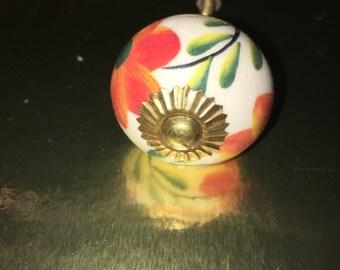 Flower ceramic knob k-103