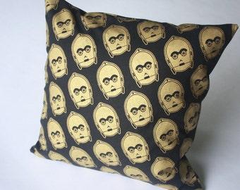 Star Wars pillow--C-3PO--Diagonal