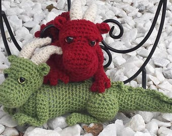 Dragon crochet pattern, amigurumi, fantasy, baby dragon, dragonling, stuffed animal, doll, baby gift, dragon nursery toy