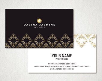 Premade Business Card Design - Business Card Template - Photography Business Card - Business Cards