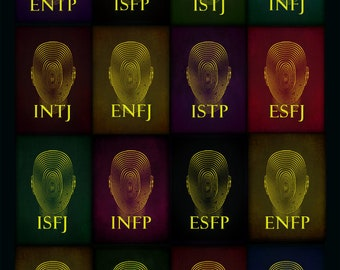 Personality Types Poster Psychology Poster