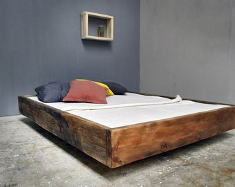 Bauholz Bett Lussan Rotbraun