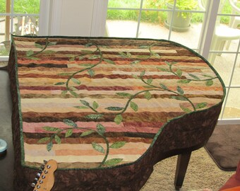 Quilted Baby Grand Piano Cover