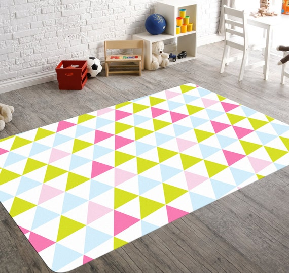 Pink And Green Rug Pink And Green Nursery Pink And Blue Rug