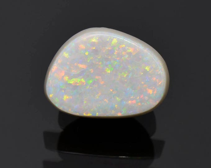 FLASH SALE! Stunning Solid White Opal Gem Cabochon from Coober Pedy, Australia 5.45 cts.