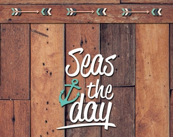 Seas The Day Decal | Yeti Decal | Yeti Sticker | Tumbler Decal | Car Decal | Vinyl Decal