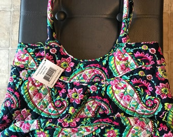 Vera Bradley Pleated Shoulder Bag Petal Paisley