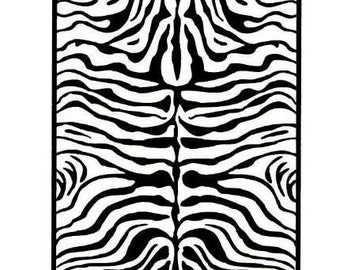 ZEBRA STRIPES Background UNMOUNTED African tribal rubber stamp, safari, Africa, wild animal pattern, Sweet Grass Stamps No.17