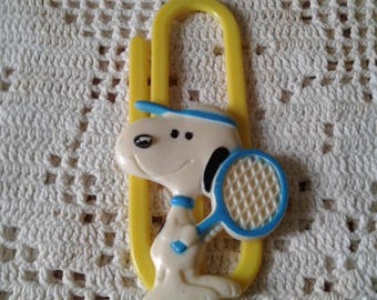 Vintage Snoopy Ready for Tennis Clip