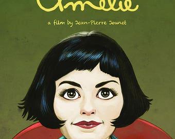 Amelie (Audrey Tautou) colour art print