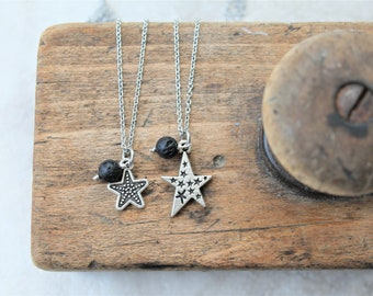 MOMMY & ME star diffuser necklace set, necklace set for mom and child, star charm necklace, stainless steel necklace, aromatherapy jewelry