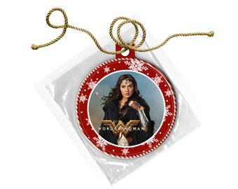 Wonder Woman Gal Gadot Christmas Ornament