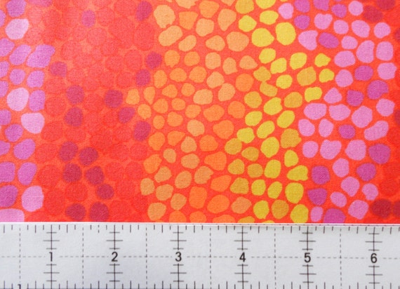 PEBBLE MOSAIC Orange BM042 by Brandon Mably for Kaffe Fassett Collective in 1/2 yard units