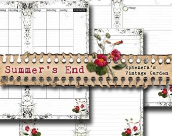Summer's End Traveller's Notebook {Planner} Inserts - Undated