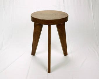 Modern Milkman - Three Legged Walnut Stool