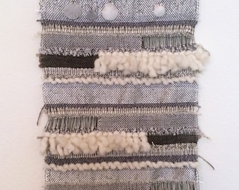 Seagull handwoven wall hanging