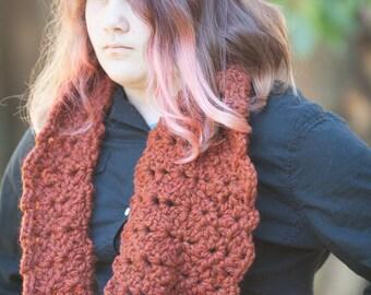 Perfect Fall Cowl.  Bulky Burnt Orange