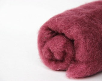 Needle felting wool, 1 oz, onion.  Maori wool blend of coopworth and corriedale. Marsala colored wool. Felting supplies. Wool batts.