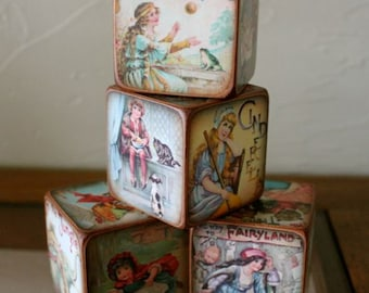 Fairy Tale Blocks Vintage