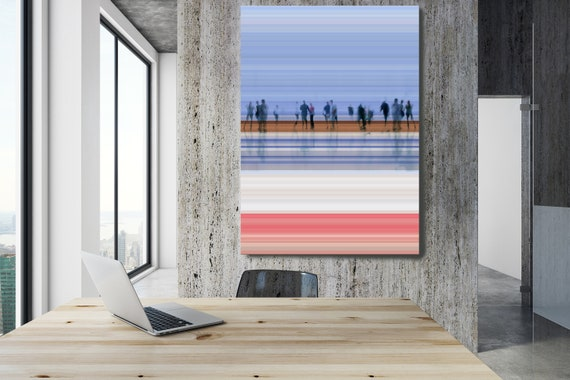 """Going To Work,  Art for Your Office, Office Wall Art Corporate Office Decor, Extra Large Canvas Art Print up to 72"""" by  Irena Orlov"""