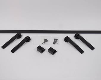REDUCED Custom Sized SLIM FIT Media Storage Cabinet Sliding Door Hardware Kit