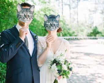 Pet Mask - Sign - Photo Prop - Custom - Cat - Dog