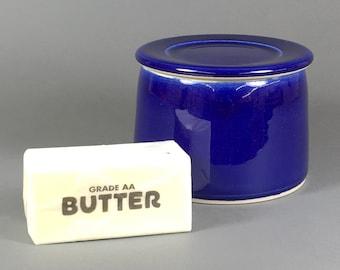 Cobalt, French Butter Dish, Butter Crock, Butter Bell, French Butter Keeper