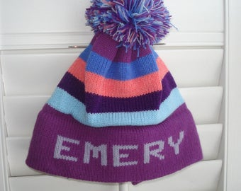 Personalized knit hat - Emery