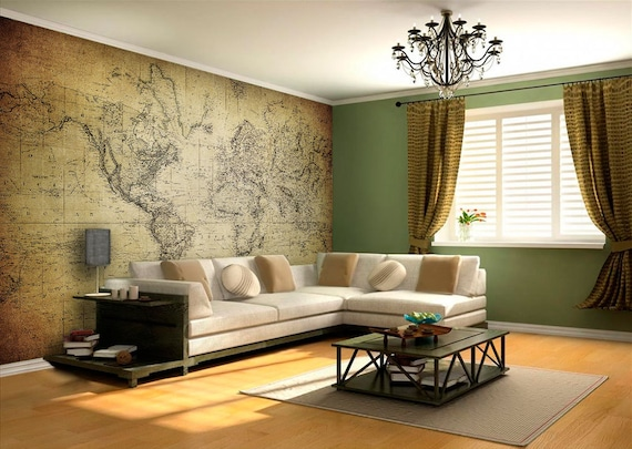 World map vintage wall mural world map wall art world map vintage wall mural world map wall art adhesive fabric self adhesive wall covering decal peel and stick skuvinwm gumiabroncs Image collections