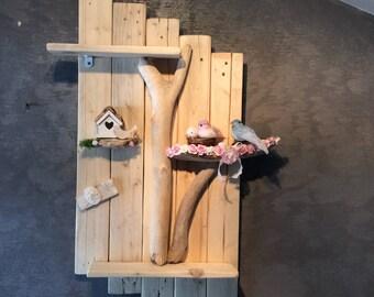Romantic shelf with bird couple