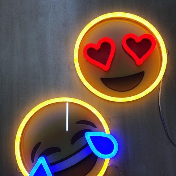 Emoji LED Neon Sign Party Lights Birthday Decor