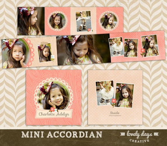 3x3 Mini Accordion Album Template WHCC Photoshop Templates