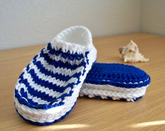 Baby Sailor Baby Slippers Pattern, Baby Booties Pattern, Baby Bootie Crochet Pattern, Knitting Pattern, Baby Booties Crochet Baby Patterns